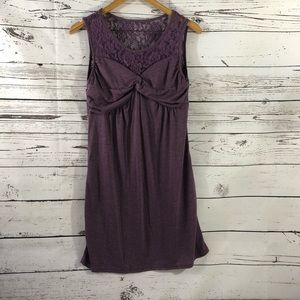 Fee Et Rit Lace-Yoke Fit & Flare Dress Size L
